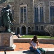 Freshman Girl's Shoulders Fall Victim To Lustful Gaze Of St. Ignatius Statue