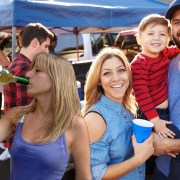 Tailgating Parents Totally Unaware That Lilly Is Blacked Out