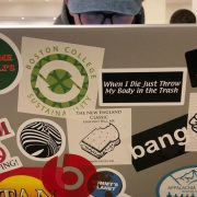 Student Mistakes Excessive Laptop Stickers For Having A Personality