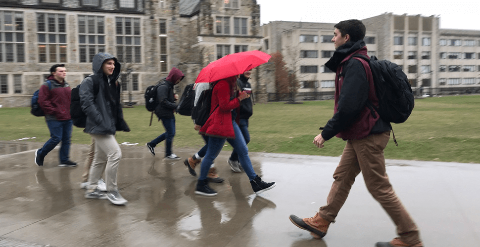 Student Tour Guide Also Walks Backwards To Class