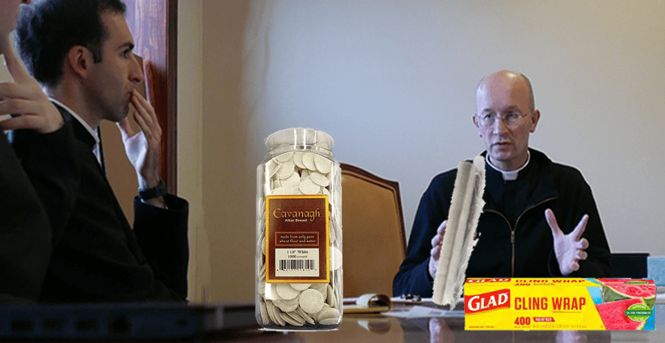 Campus Ministry Begins Individually Plastic-Wrapping Communion Wafers