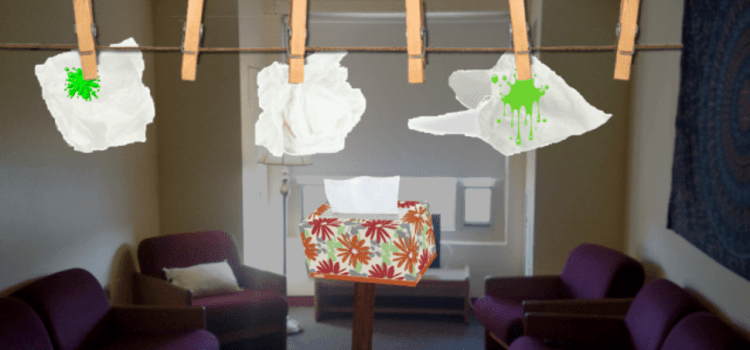 Overeager Sustainable Living Students Recycle Tissues During Peak Cold Season