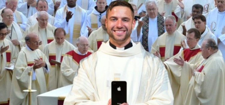 "Newly Ordained Fr. Kevin Spends All Of Mass Playing ""Flappy Bird"" On Phone"