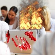 Student Spontaneously Combusts After Playing Music Without Headphones in Library