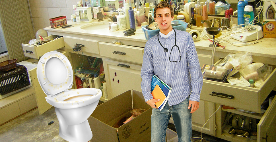 Future Doctor Has No Qualms About Peeing On Toilet Seat