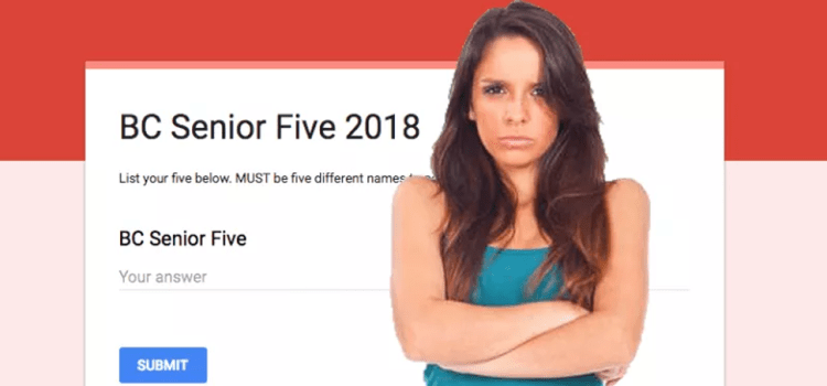 OPINION: Senior Five Lists Are A Shallow And Immature Concept, And Why The FUCK Am I Not On One Yet?