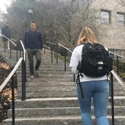 British Student Walks Up Left Side Of Million Dollar Stairs
