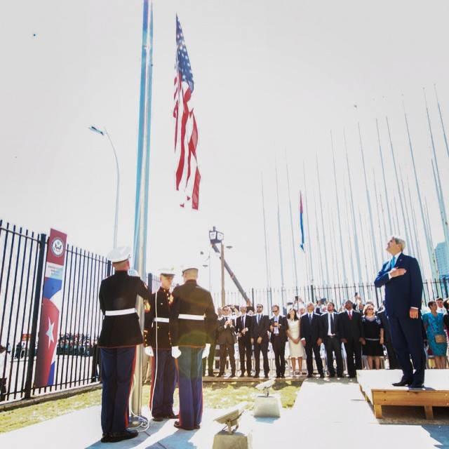US Flag Flies Again In Havana