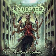 Aborted the necrotic manifesto artwork