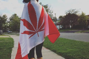 Canadian Marijuana Flag