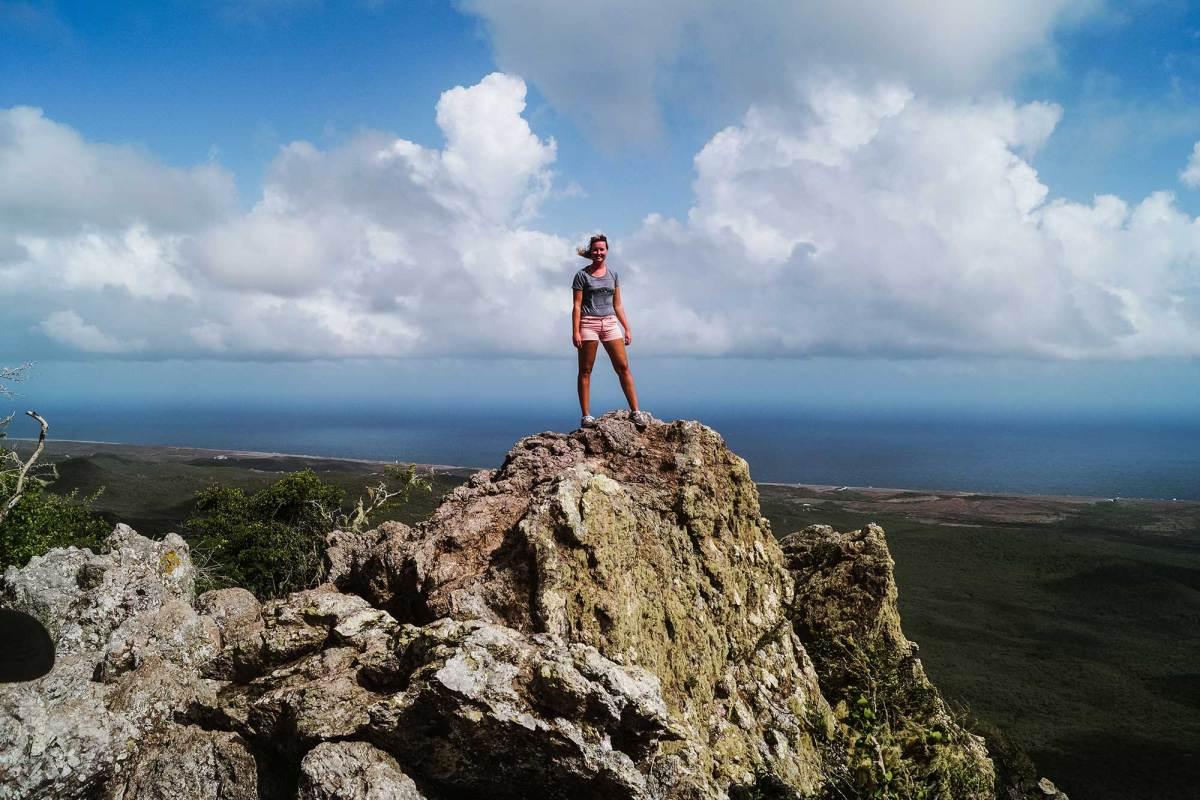 Beklimmen van de Christoffelberg Curaçao