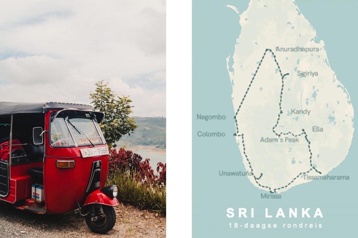 Rondreis Sri Lanka route