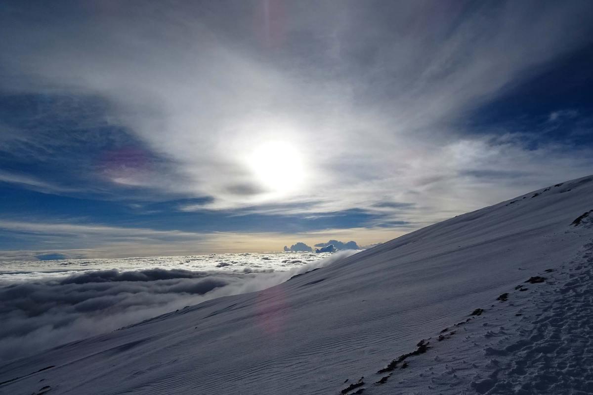Op weg naar de top van de Kilimanjaro