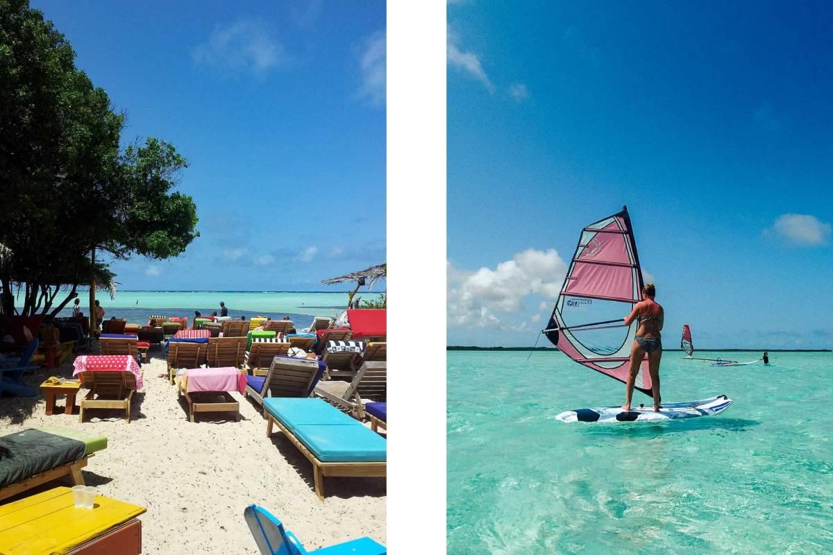 Windsurfen bij Jibe City Bonaire