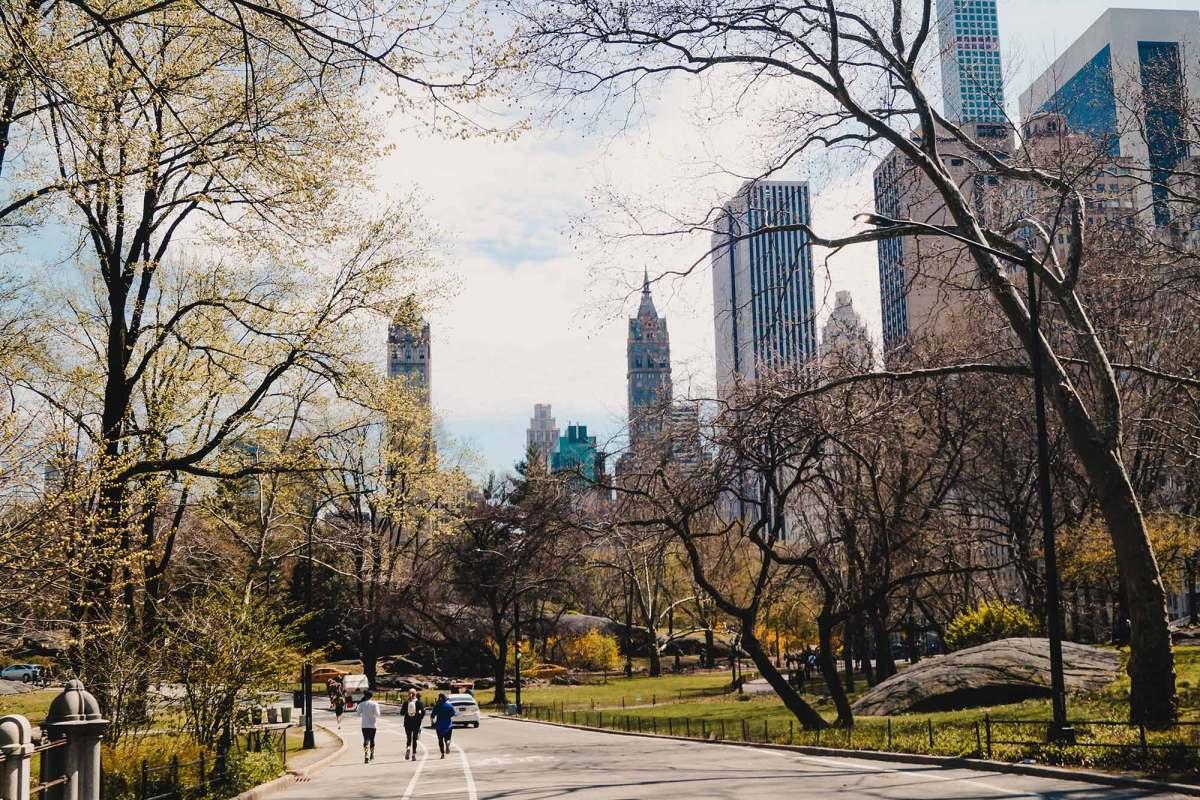 Fietsen door Central Park New York