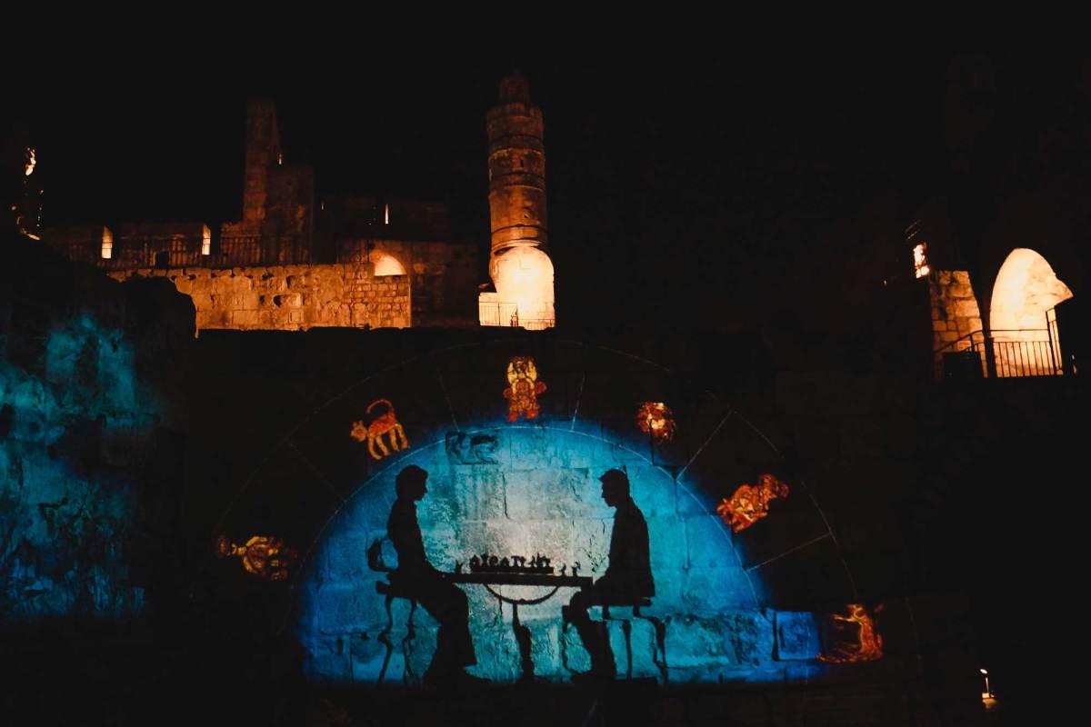 Nachtshow Citadel Jeruzalem bezoeken