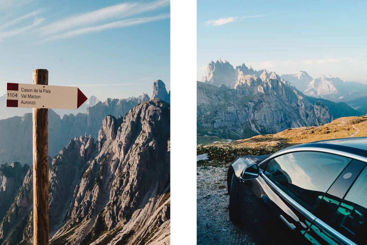Met de Tesla naar de Dolomieten in Italie