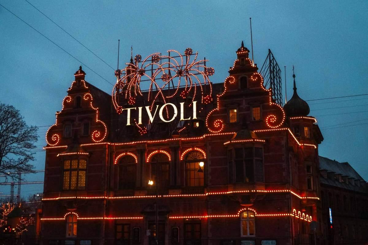 Pretpark Tivoli in kerstsferen