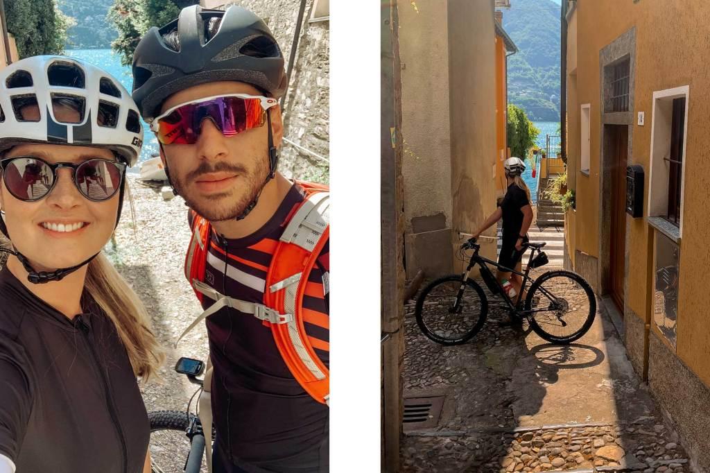 Mountainbiken of wielrennen langs het Comomeer