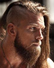 stylish viking haircut