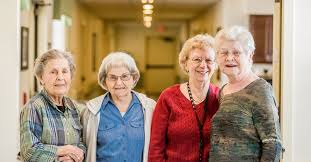 these lovely ladies live in an assisted living community