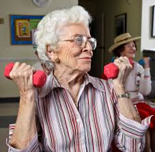 Exercise programs are offered in an assisted living community as well