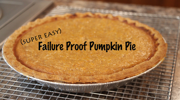 Failure Proof Pumpkin Pie