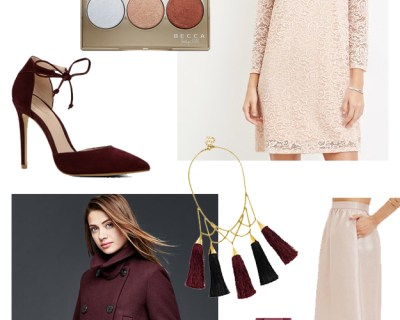 November Wish List: Blush & Bordeaux
