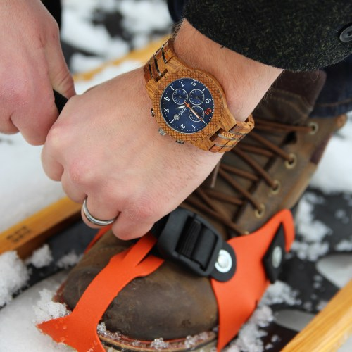 Winter Snowshoe with JORD Wood Watches (Giveaway!)