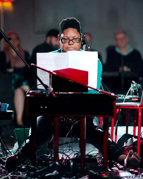 Elizabeth A. Baker performing at Florida International Toy Piano Festival January 8 2016 at The Space at 2106 Main