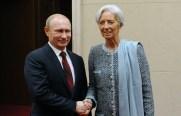 Vladimir Putin and Christine Lagarde © Mikhail Klimentyev/TASS