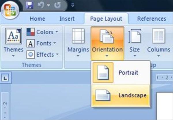 change page orientation portrait