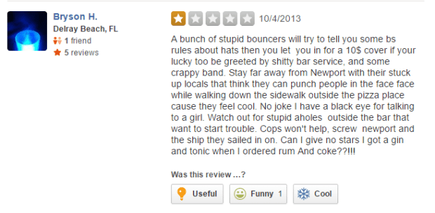 Bryson H Yelp Review