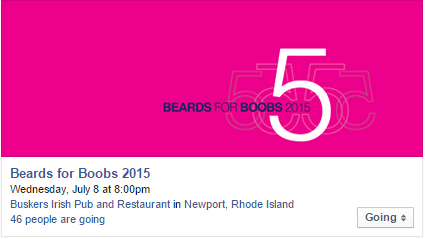 Beards For Boobs FB Event graphic