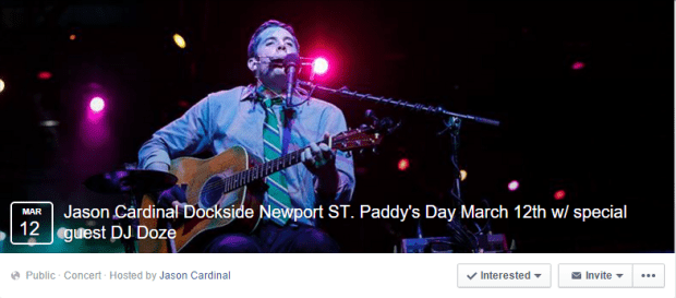 Jason Cardinal Dockside FB Event