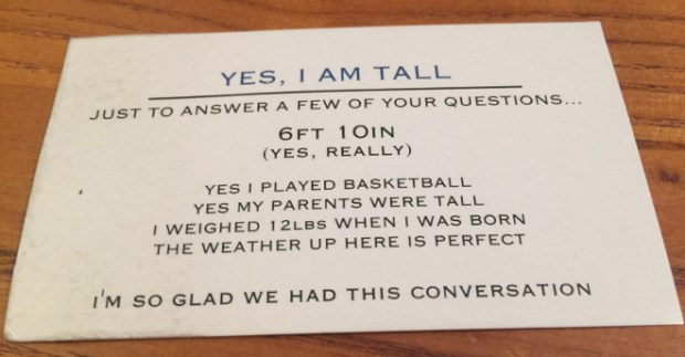 Yes Im Tall Card