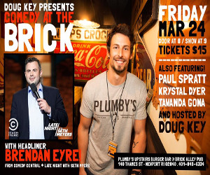 Comedy at the Brick 3-24-17 ad