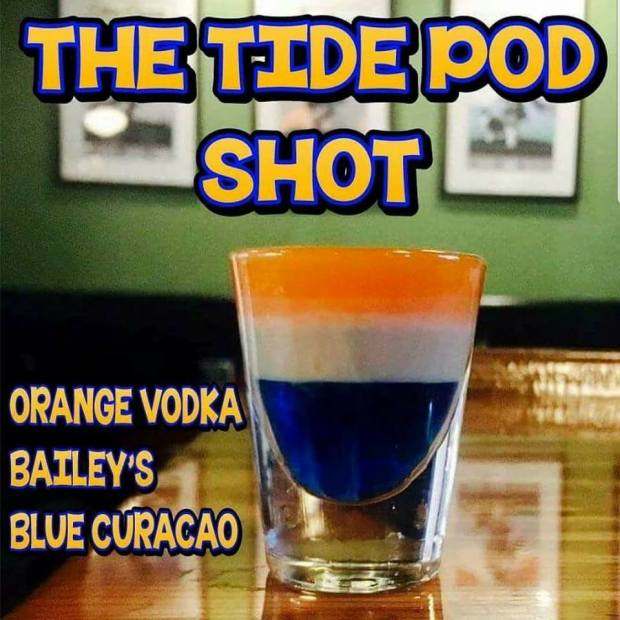 Tide Pod Shot - Vodka Baileys Blue Curacao