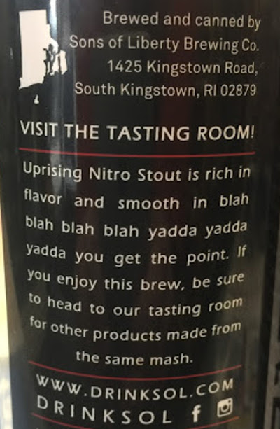 Rhode Island Craft Beer Sons Of Liberty Uprising Tasting Notes