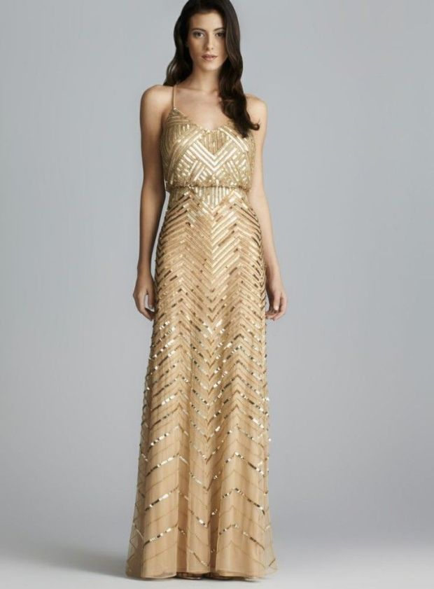 Golden Bridesmaid Dresses | The Newport Bride