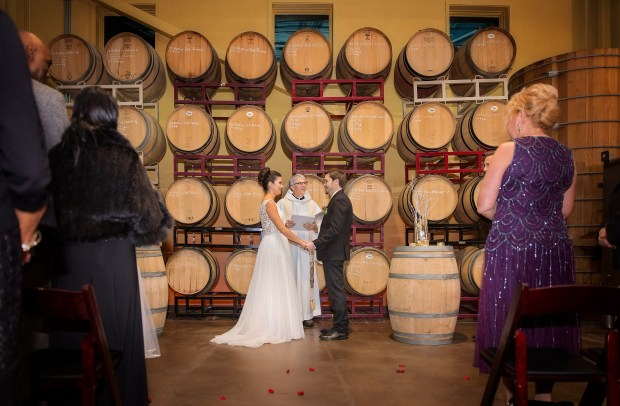 Brittany and Trevor's Christmas Wedding at Newport Vineyards | The Newport Bride