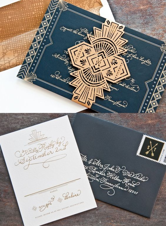 21 Stunning Art Deco Invitations | The Newport Bride.jpg