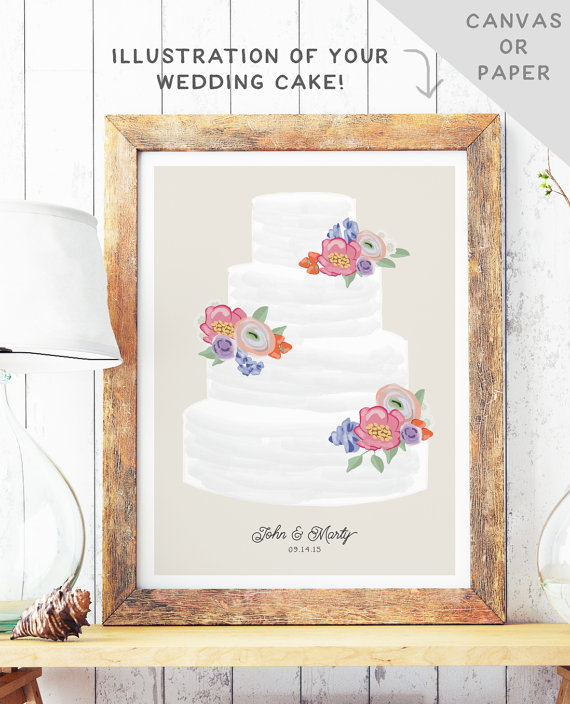 Wedding Cake Art | MBD Wedding Shop on Etsy 2