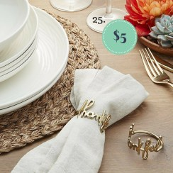 Thankful Napkin Rings on the The Newport Bride Holiday Gift Guide | The Newport Bride