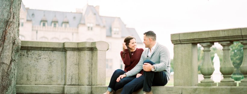 Brittany and Gary's Newport Rhode Island Engagement Pictures on The Newport Bride