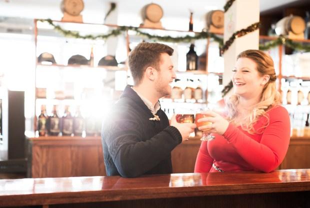 Newport Storm Engagement Shoot on The Newport Bride
