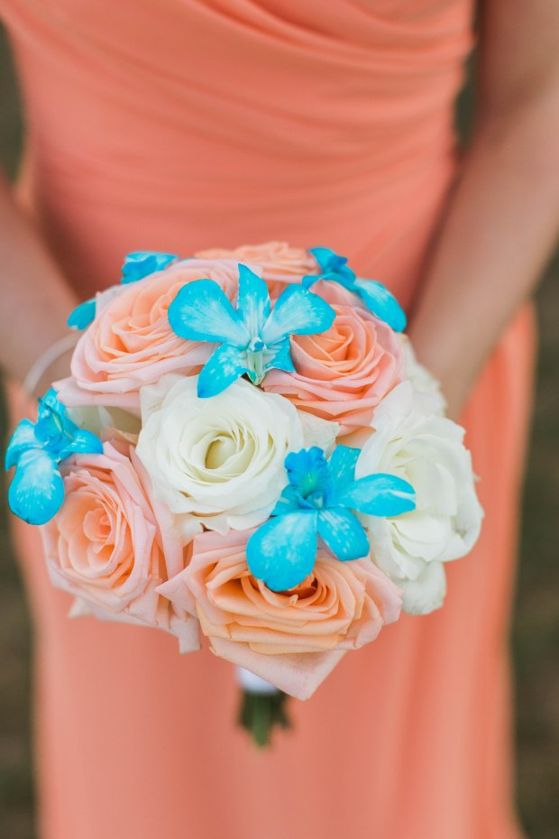 Turquoise and Peach Indian Wedding at Spring House