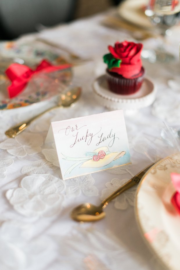 Kentucky Derby Big Hat Themed Bridal Shower Shoot on The Newport Bride