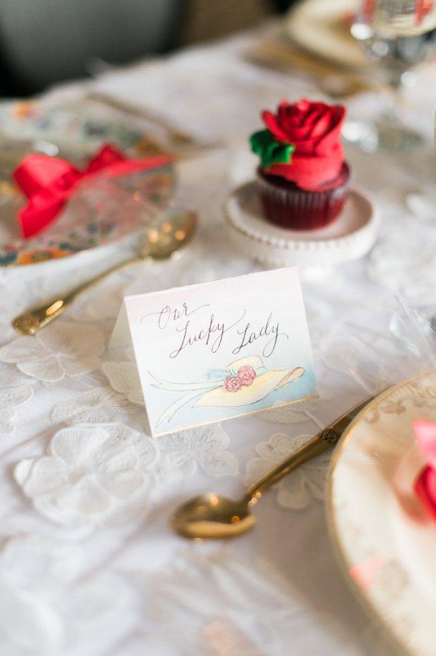 Kentucky Derby Big Hat Themed Bridal Shower Shoot on The Newport Bride