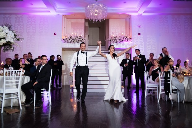 Elegant Metallic Winter Belle Mer Wedding at The Newport Bride